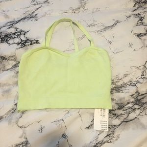 NWT Lime green knit bralette top.